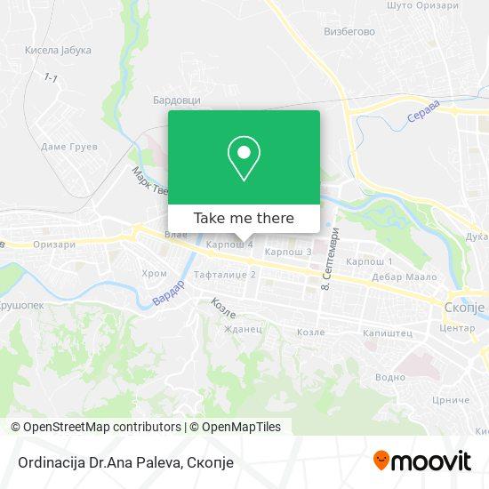 Ordinacija Dr.Ana Paleva map
