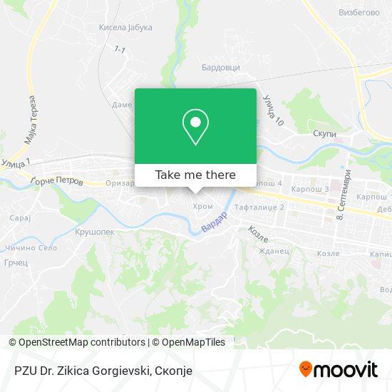 PZU Dr. Zikica Gorgievski map