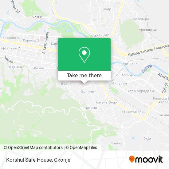 Korshul Safe House map