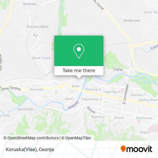 Koruska(Vlae) map
