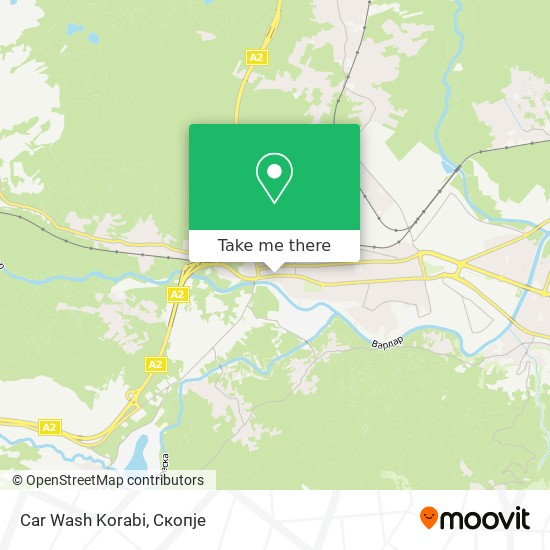 Car Wash Korabi map