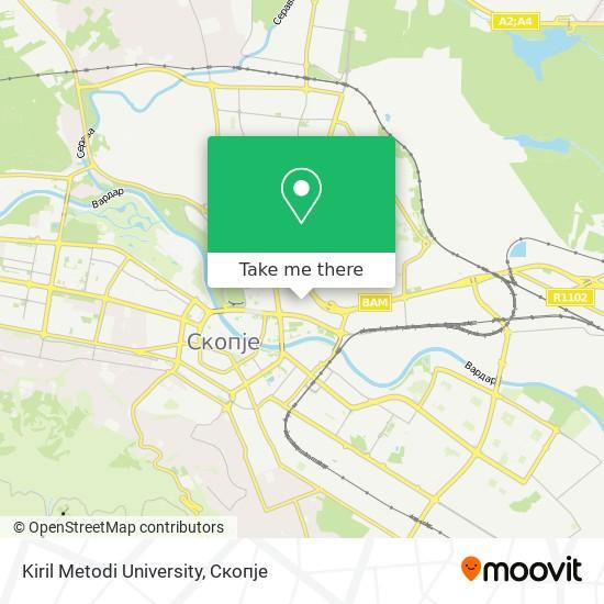 Kiril Metodi University map