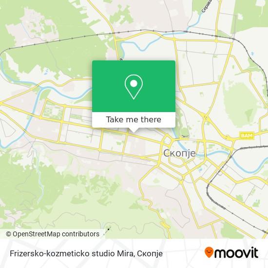 Frizersko-kozmeticko studio Mira map