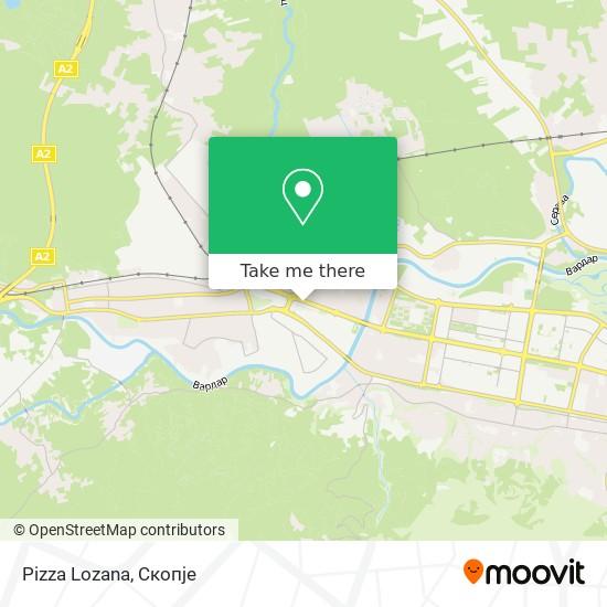 Pizza Lozana map