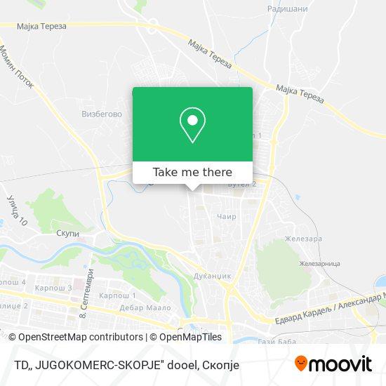 TD,, JUGOKOMERC-SKOPJE'' dooel map