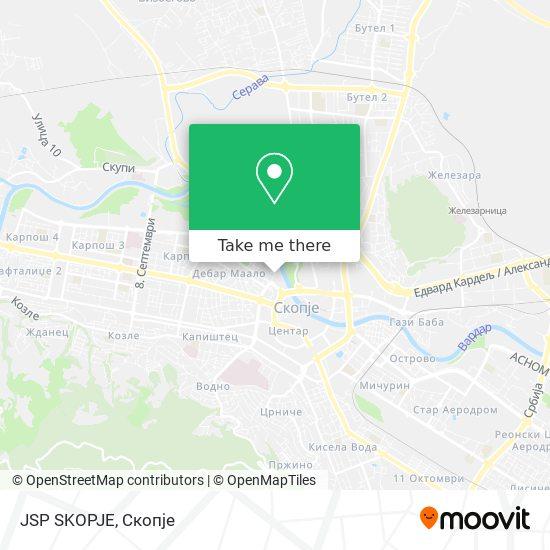 JSP SKOPJE map