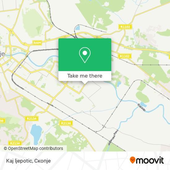 Kaj ljepotic map