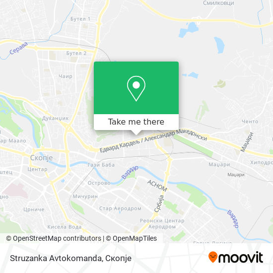 Struzanka Avtokomanda map