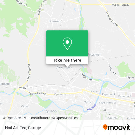 Nail Art Tea map
