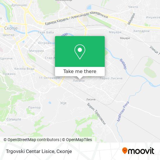 Trgovski Centar Lisice map
