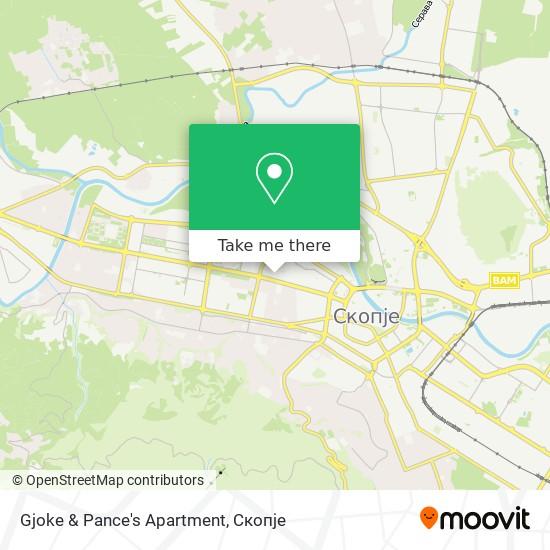 Gjoke & Pance's Apartment map