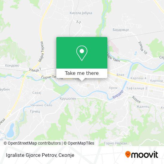 Igraliste Gjorce Petrov map