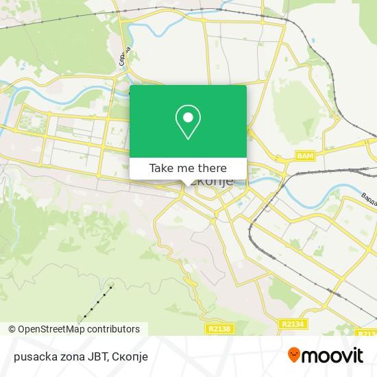pusacka zona JBT map