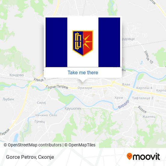 Gorce Petrov map