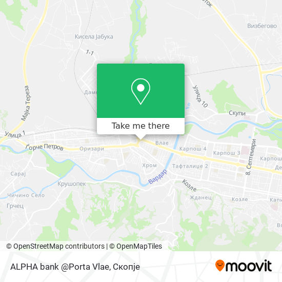 ALPHA bank @Porta Vlae map