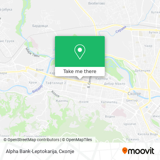 Alpha Bank-Leptokarija map