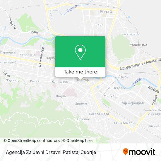 Agencija Za Javni Drzavni Patista map