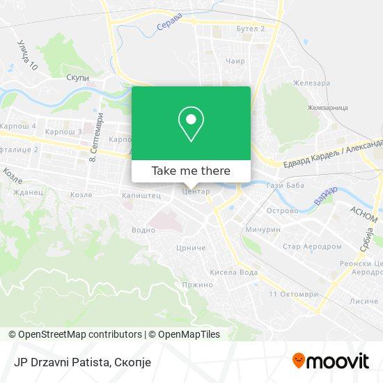 JP Drzavni Patista map