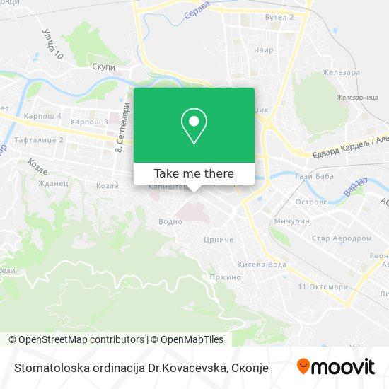 Stomatoloska ordinacija Dr.Kovacevska map