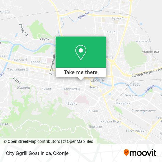 City Ggrill Gostilnica map