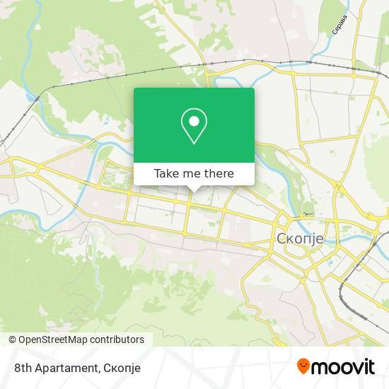 8th Apartament map