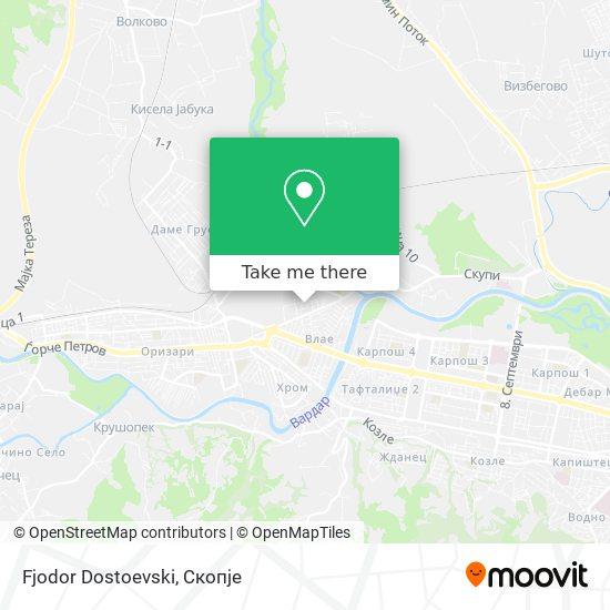 Fjodor Dostoevski map
