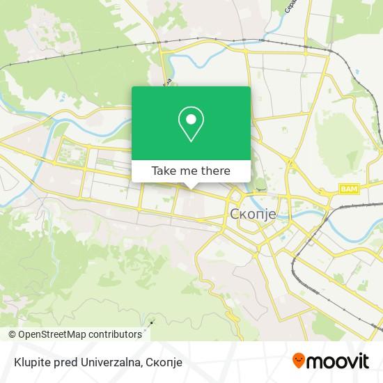 Klupite pred Univerzalna map