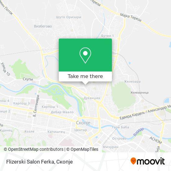 Flizerski Salon Ferka map