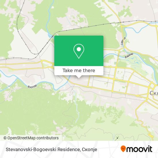Stevanovski-Bogoevski Residence map