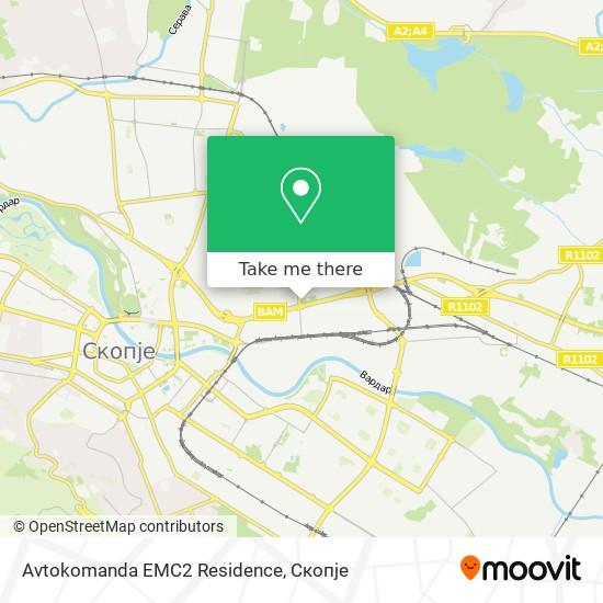 Avtokomanda EMC2 Residence map