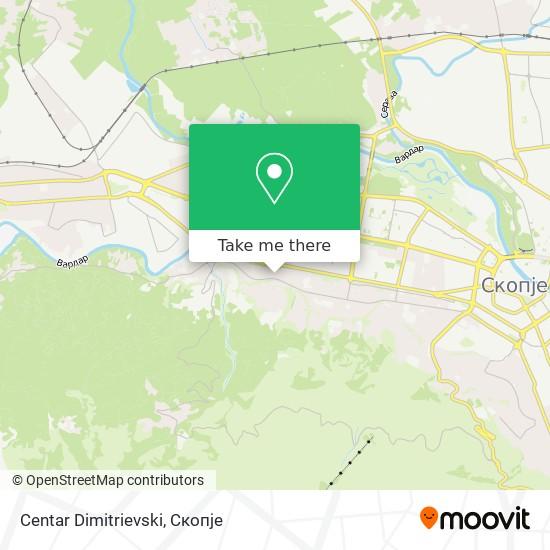 Centar Dimitrievski map