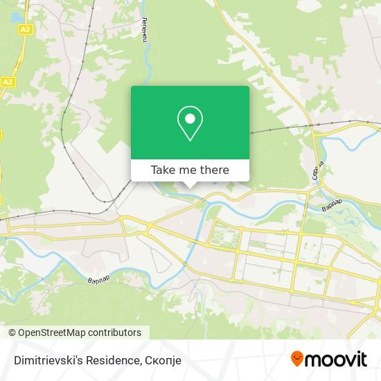 Dimitrievski's Residence map