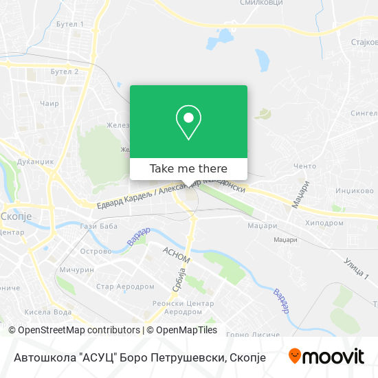 "Автошкола ""АСУЦ"" Боро Петрушевски map"