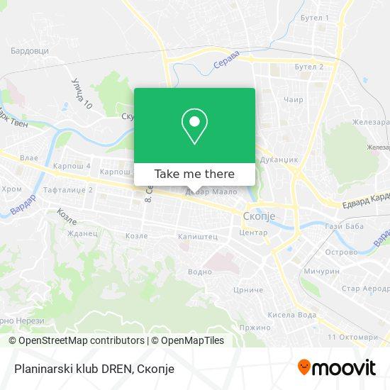 Planinarski klub DREN map