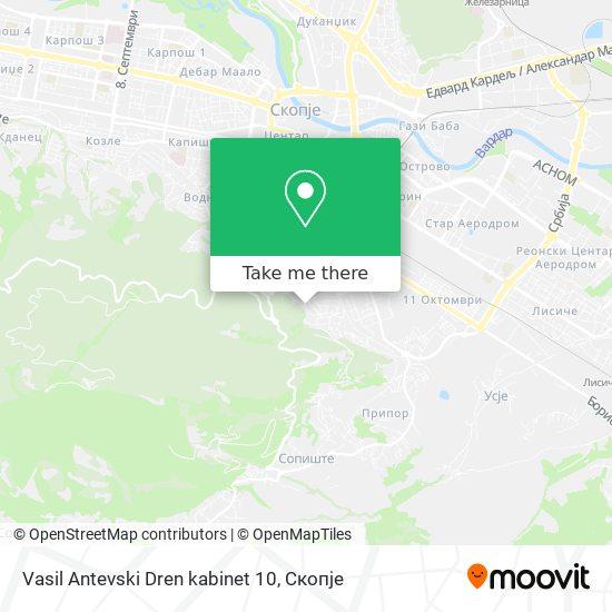 Vasil Antevski Dren kabinet 10 map
