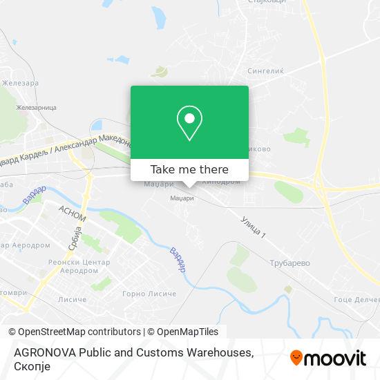 AGRONOVA Public and Customs Warehouses map