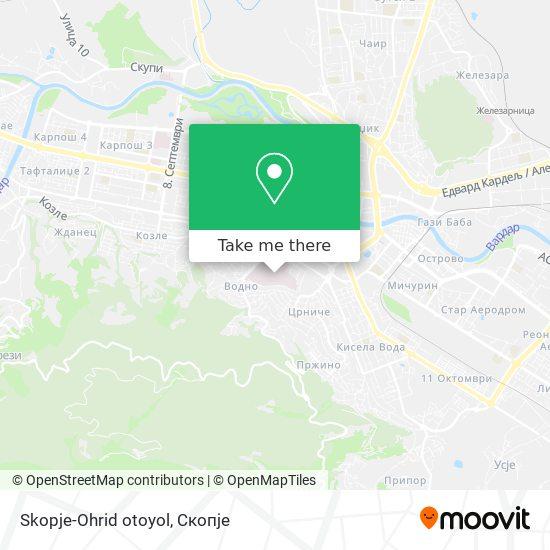Skopje-Ohrid otoyol map