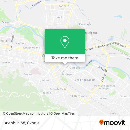 Avtobus 68 map
