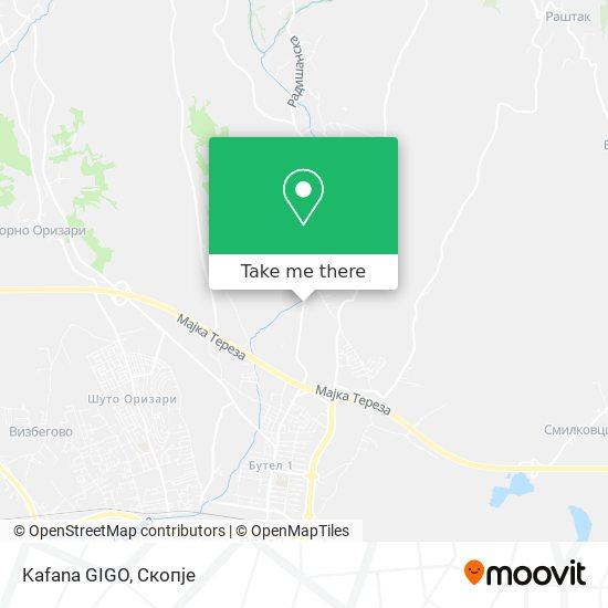 Kafana GIGO map