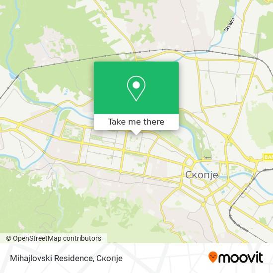 Mihajlovski Residence map