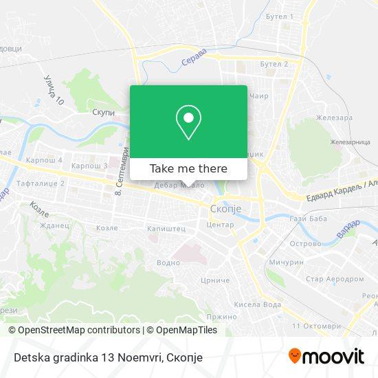 Detska gradinka 13 Noemvri map