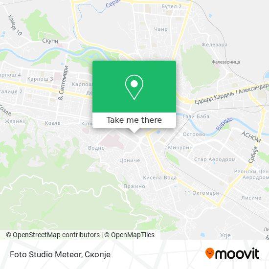 Foto Studio Meteor map