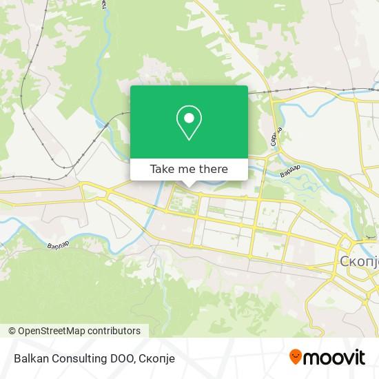 Balkan Consulting DOO map