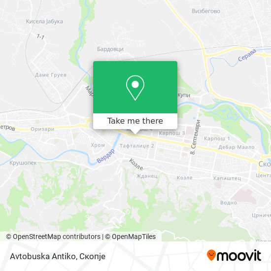Avtobuska Antiko map