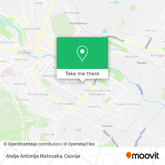 Atelje Antonija Ristovska map