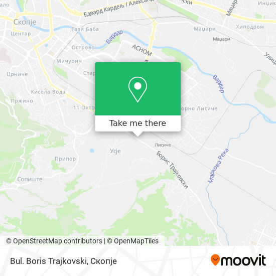 Bul. Boris Trajkovski map