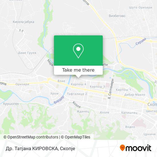 Др. Татјана КИРОВСКА map