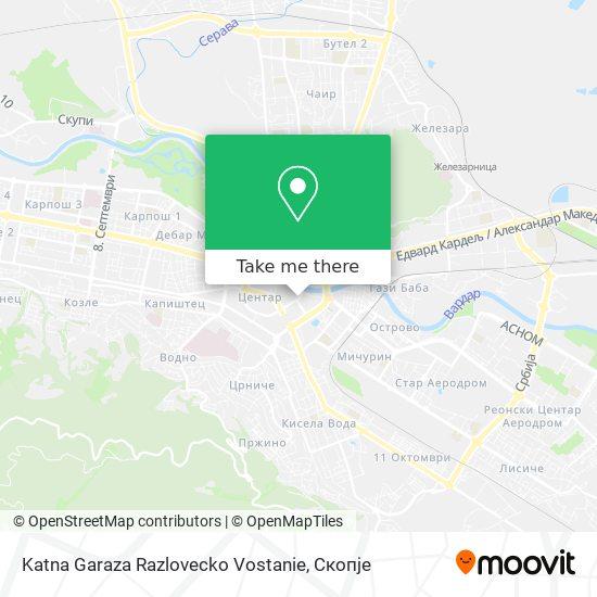Katna Garaza Razlovecko Vostanie map