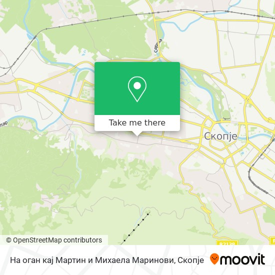 На оган кај Мартин и Михаела Маринови map