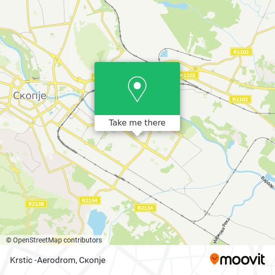 Krstic -Aerodrom map